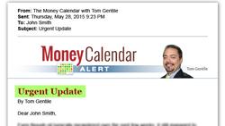 Tom Gentile The Money Calendar